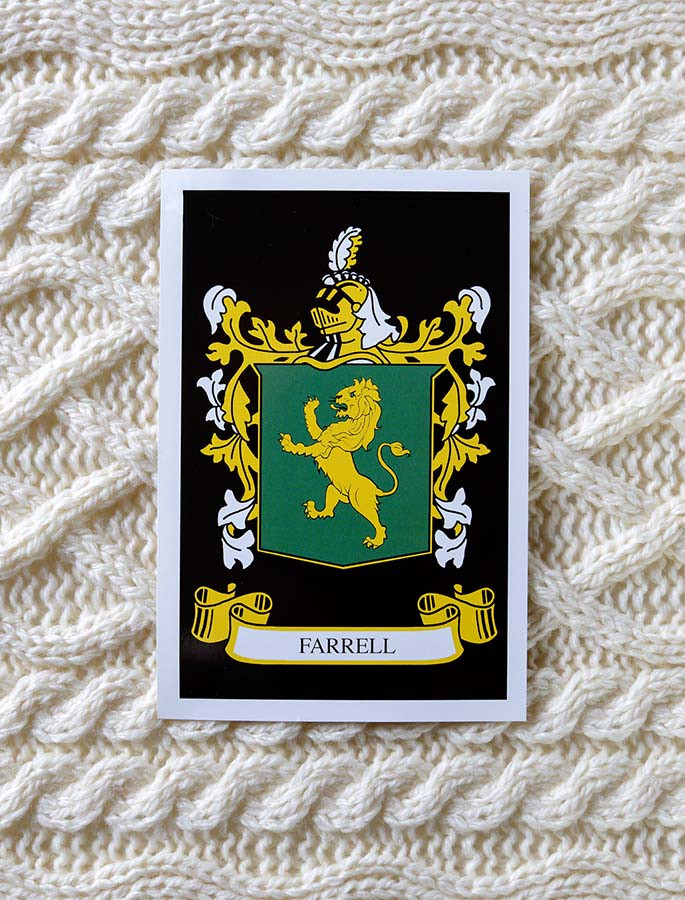 Farrell Clan Aran Throw