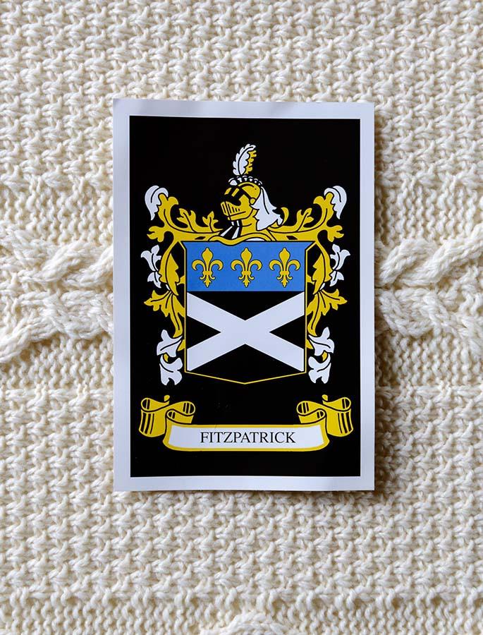 Fitzpatrick Clan Aran Throw