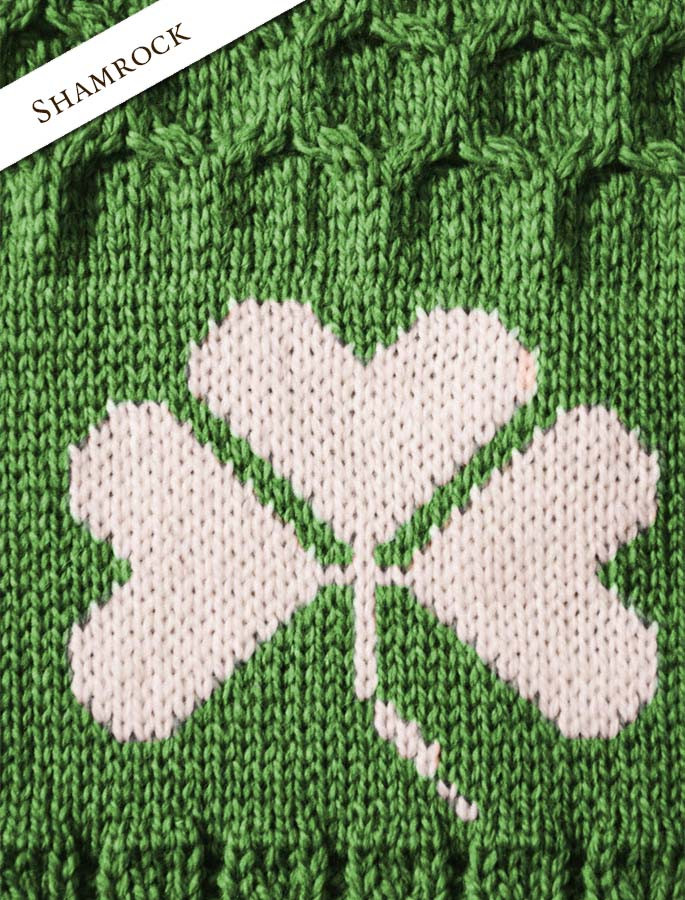 Shamrock Detail from Merino Shamrock Throw