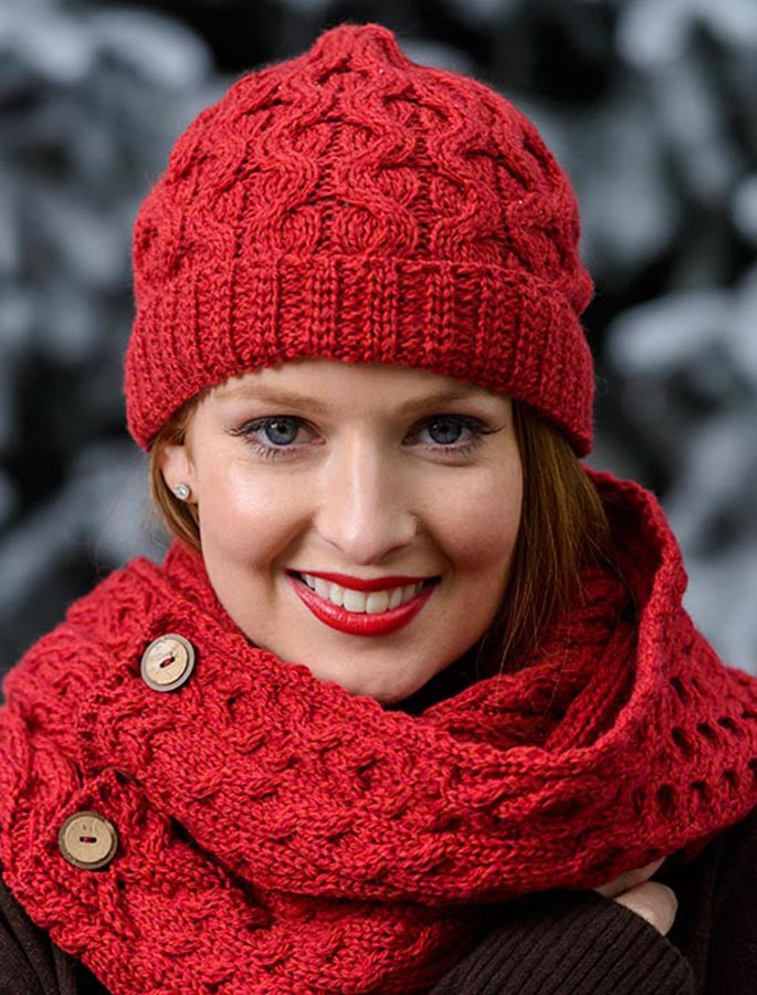 9cab9637 Merino Wool Cable Knit Hat