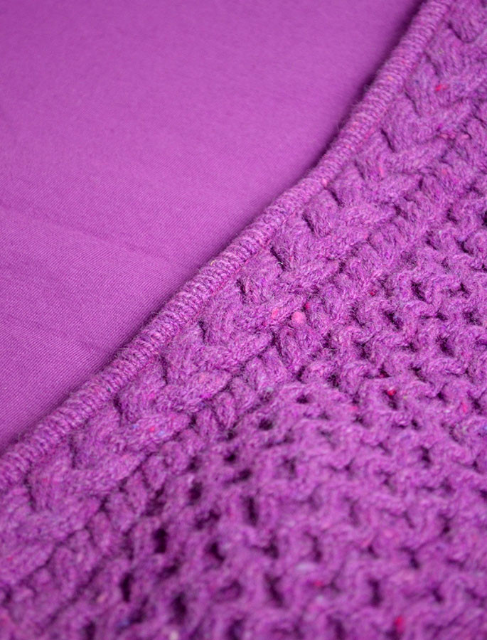 87f785c6ba0a6 Wool Cashmere Honeycomb Aran Hoodie