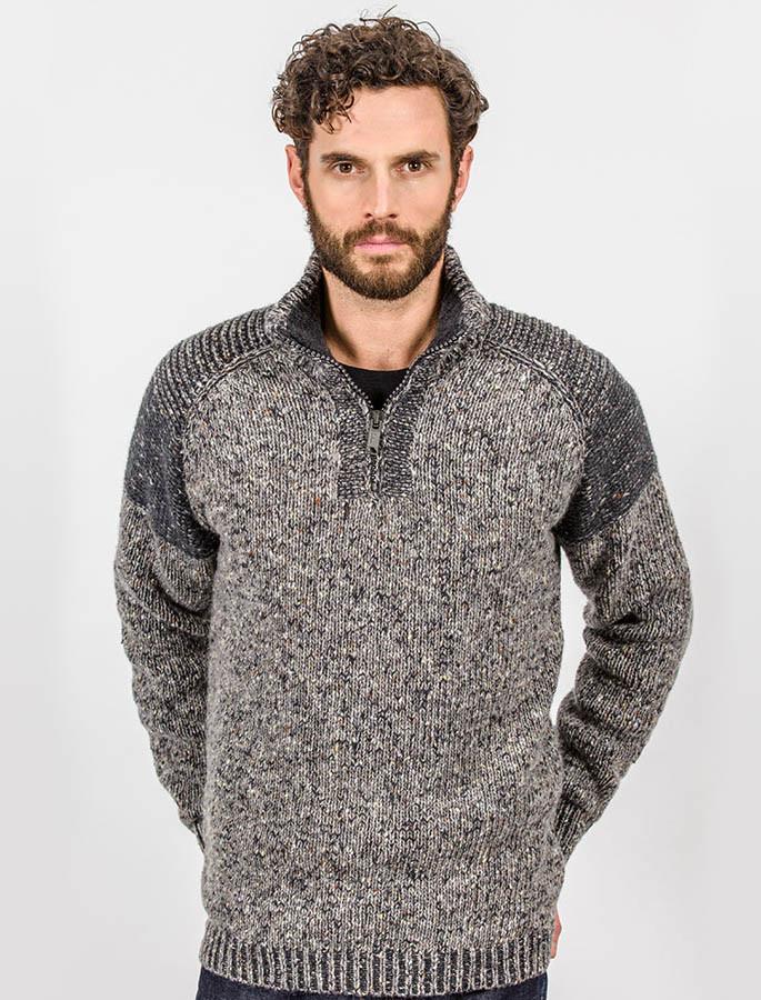 Zip Neck Raglan Sweater