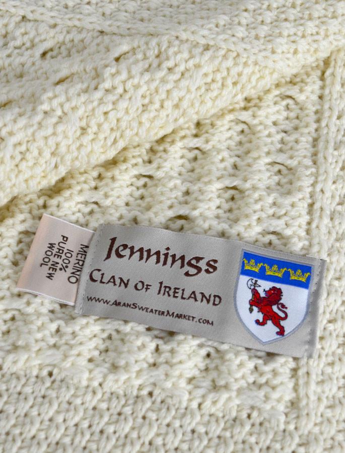 Jennings Clan Aran Throw