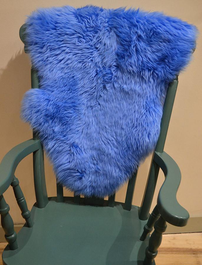 Deep Pile Sheepskin Rug - Blue