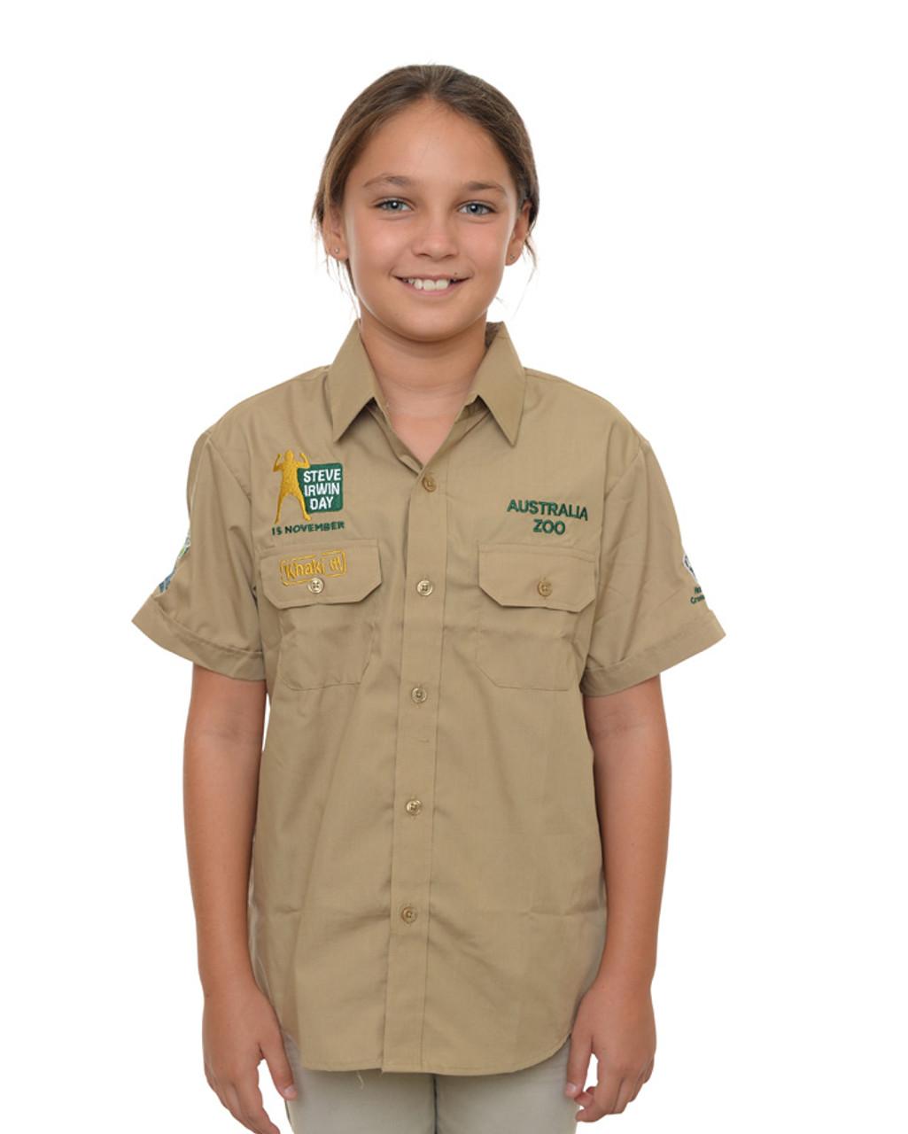 Steve Irwin Day Khaki Shirt Kids