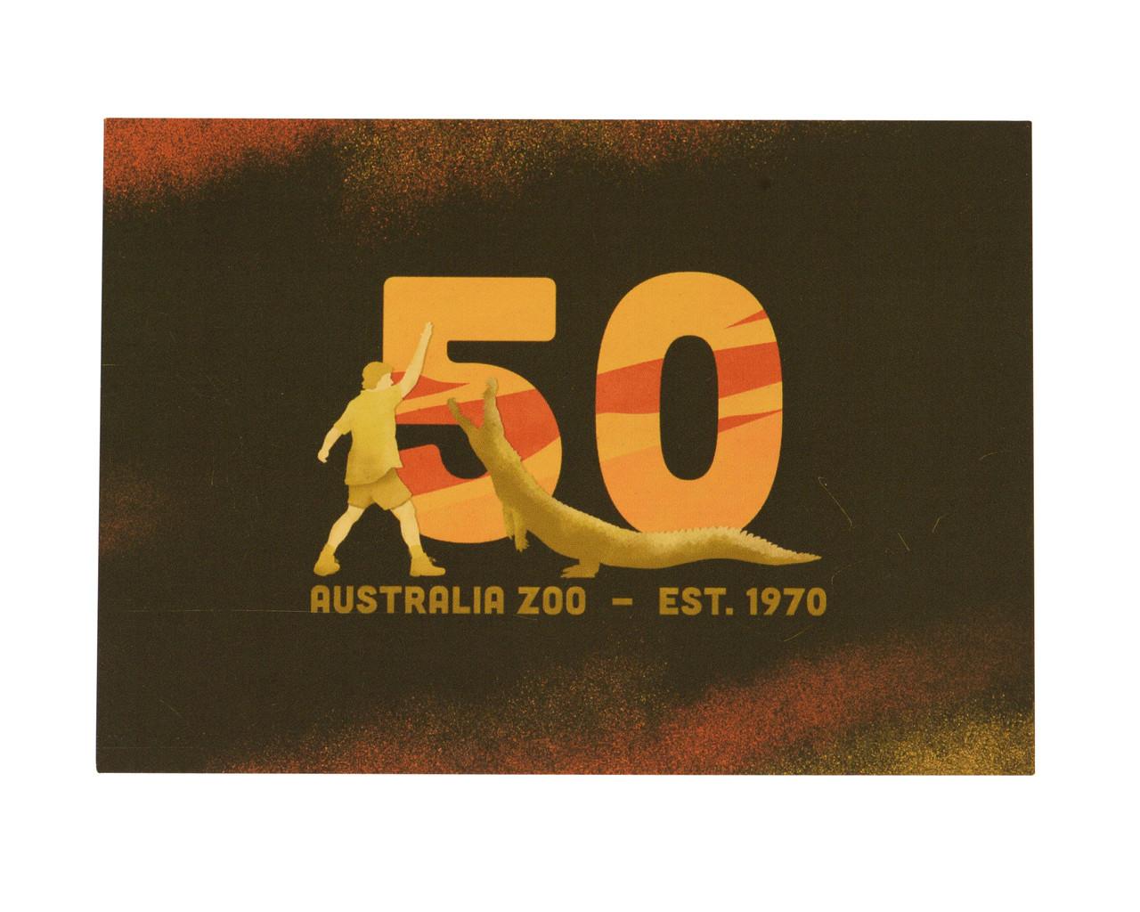 Australia Zoo Celebrating 50 Years Postcard