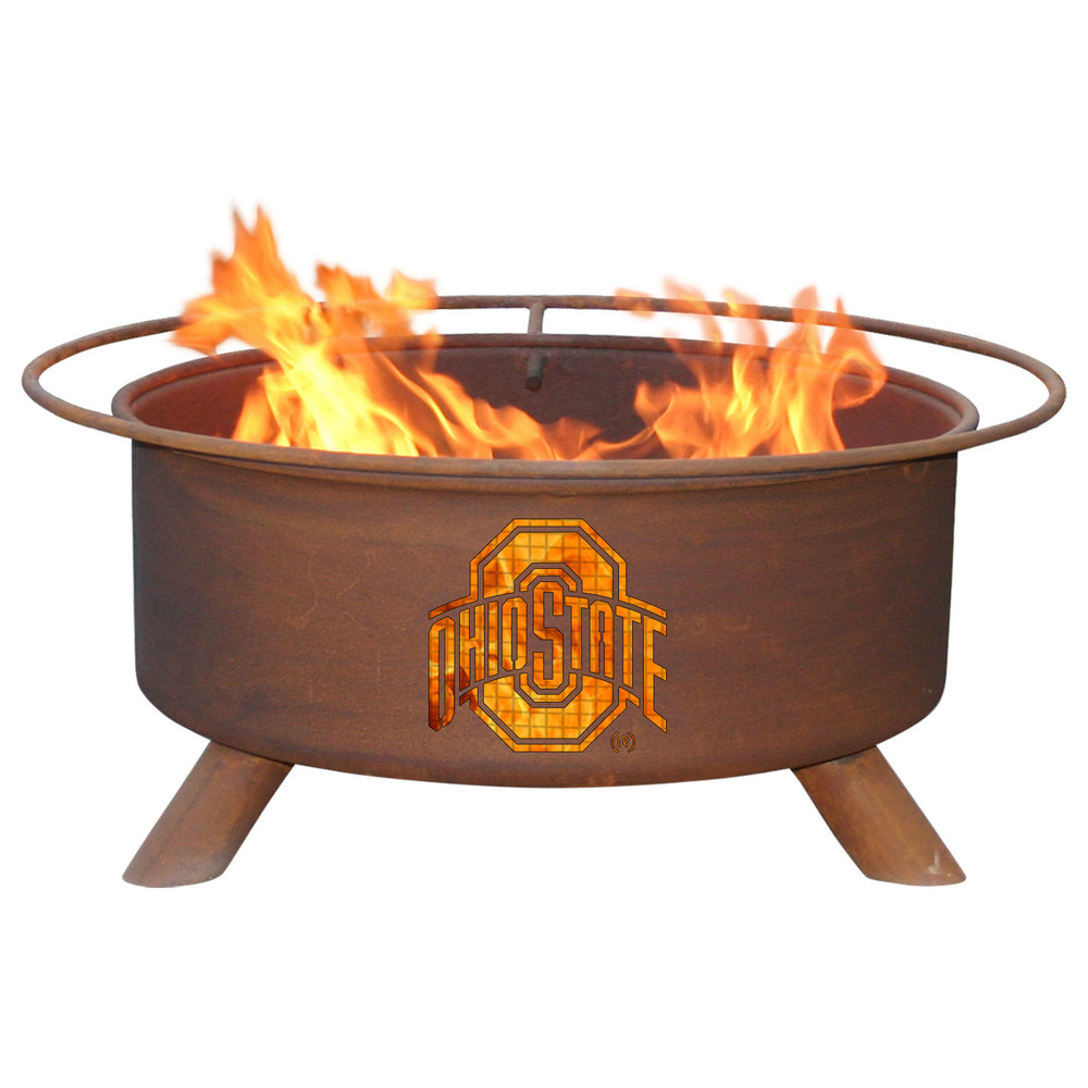 Ohio State Buckeyes Portable Fire Pit Grill | Patina |F415