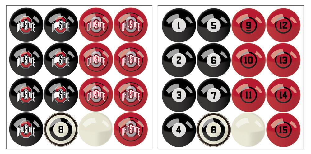 Ohio State Buckeyes Pool Ball Set   Imperial International   626-3015