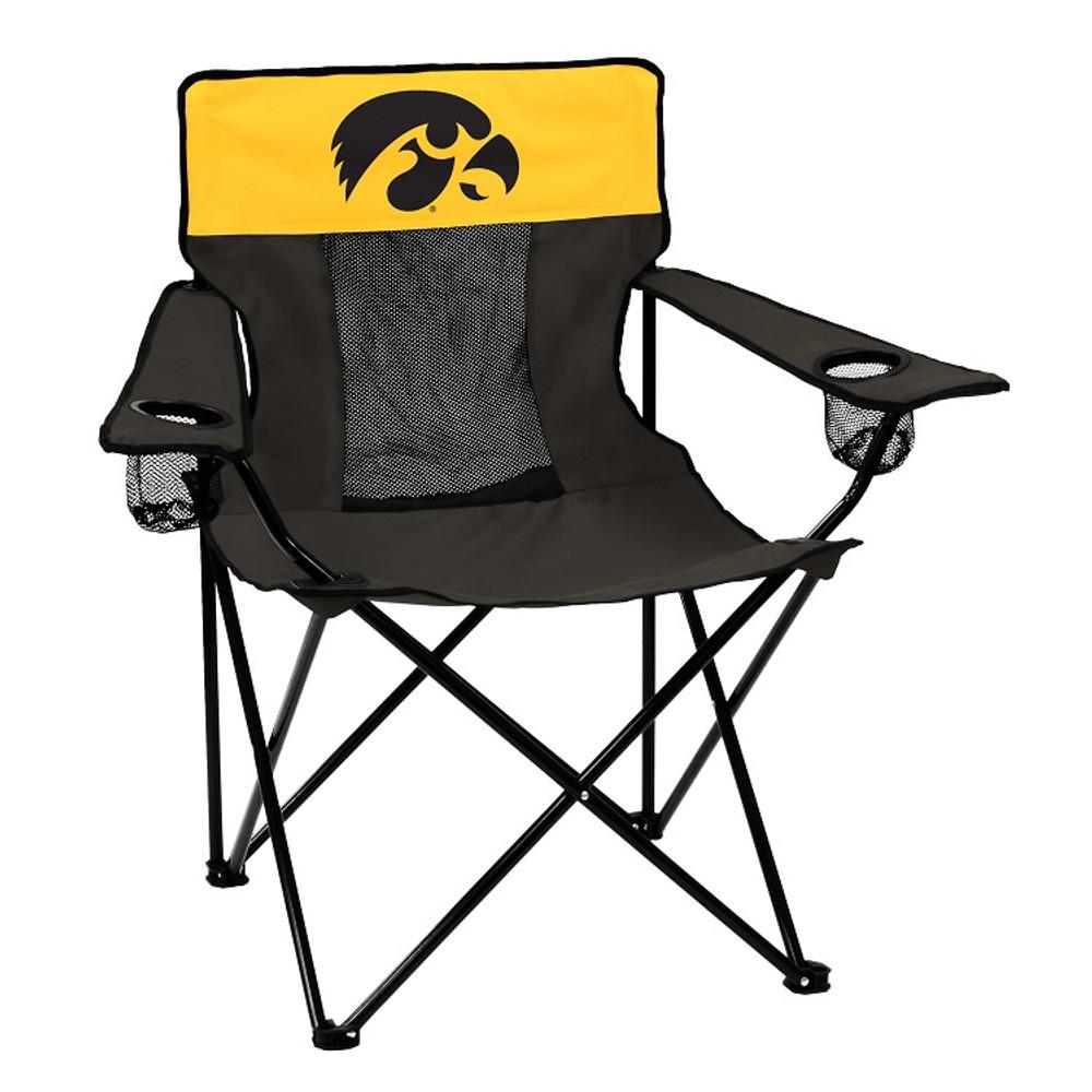 Iowa Hawkeyes Elite Tailgate Chair   Logo Chair   155-12E
