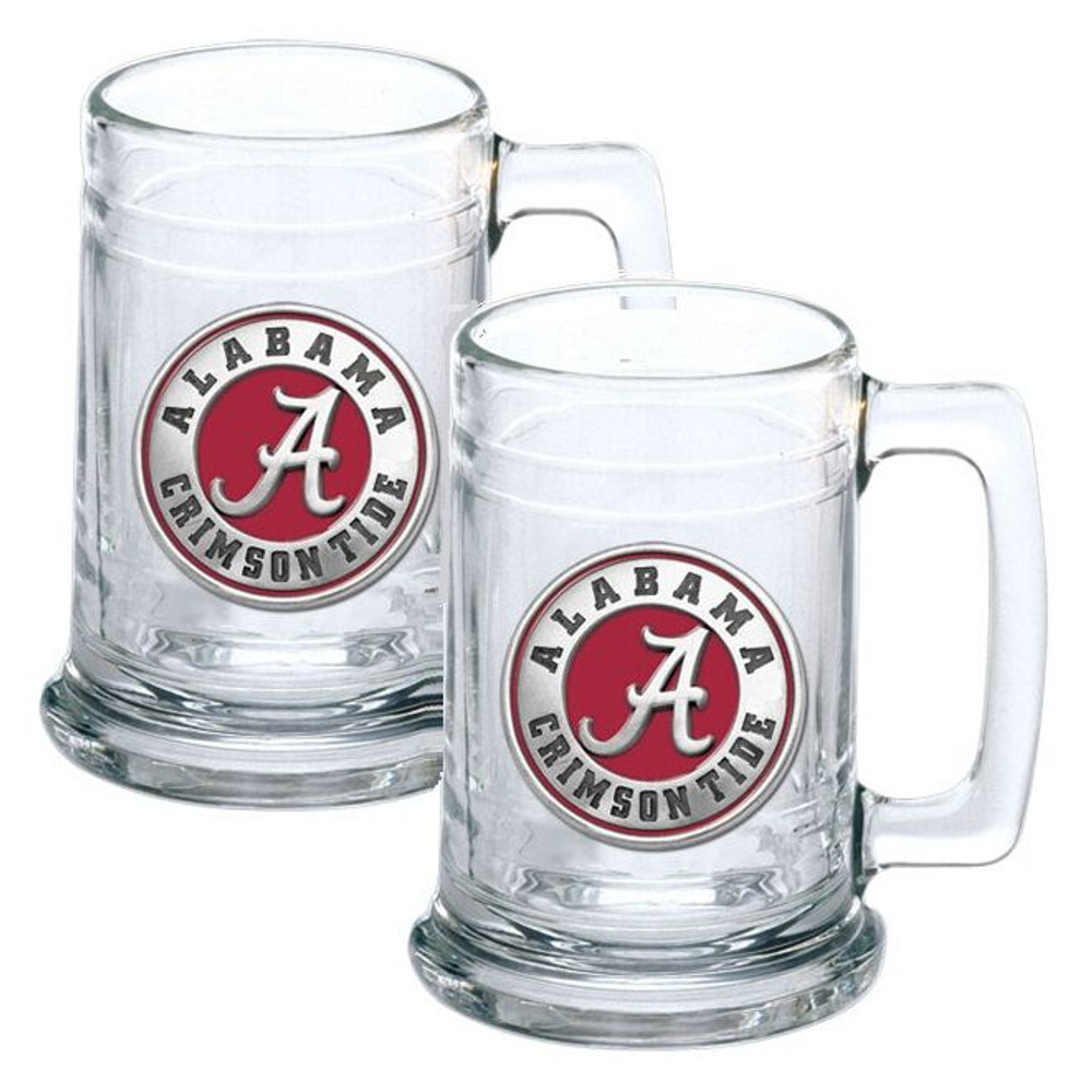 Alabama Crimson Tide Beer Mug Set of Two | Heritage Pewter | ST10308ER
