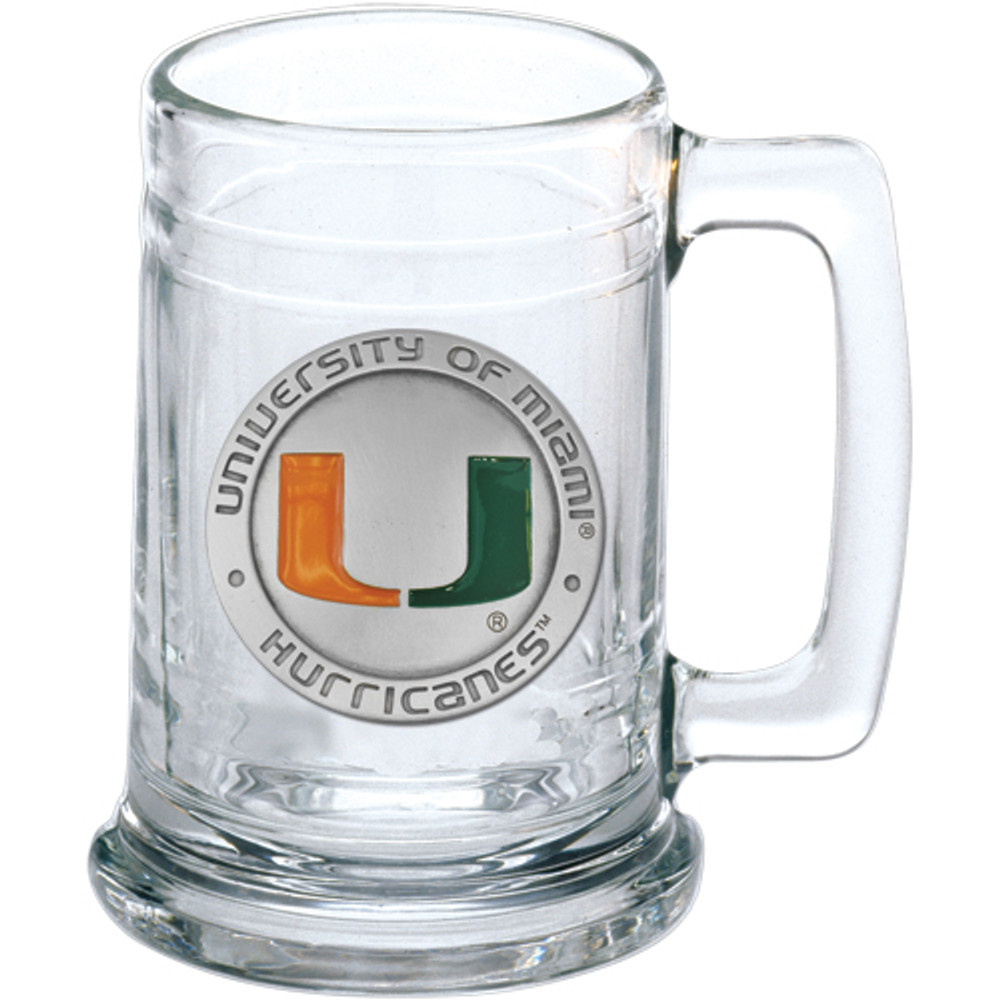 Miami Hurricanes Beer Mug Set of Two | Heritage Pewter | ST10185E
