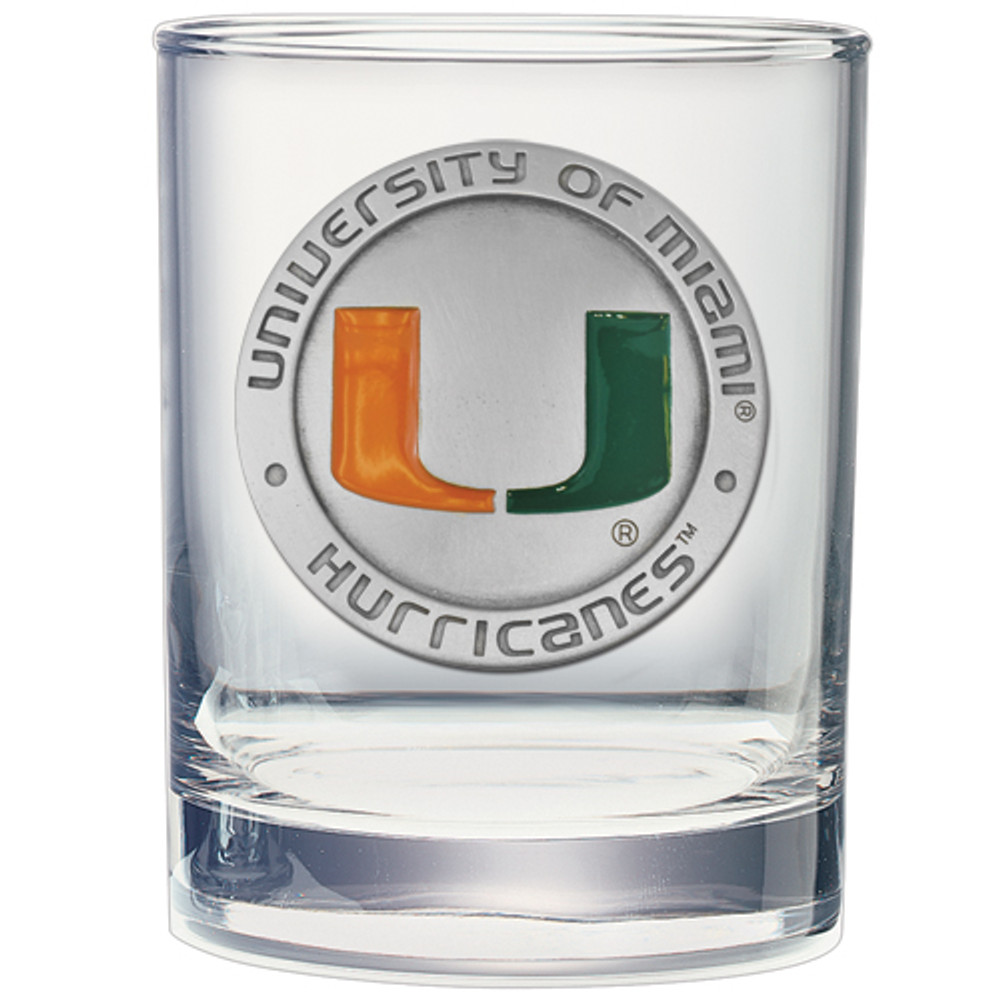 Miami Hurricanes Cocktail Glasses | Heritage Pewter | DOF10185E