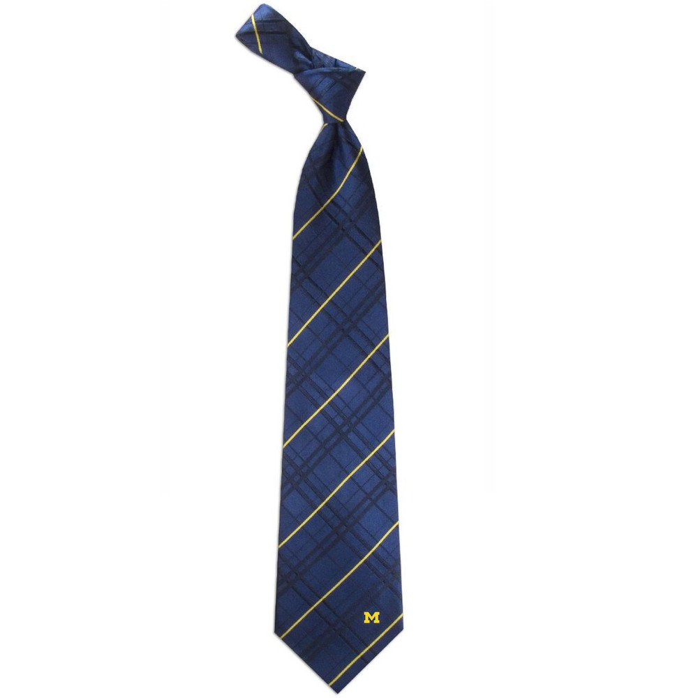 Michigan Wolverines Oxford Woven Silk Tie | Eagles Wings | 4877