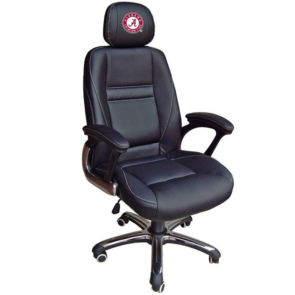 Alabama Crimson Tide Leather Office Chair   Wild Sports   901C-ALA