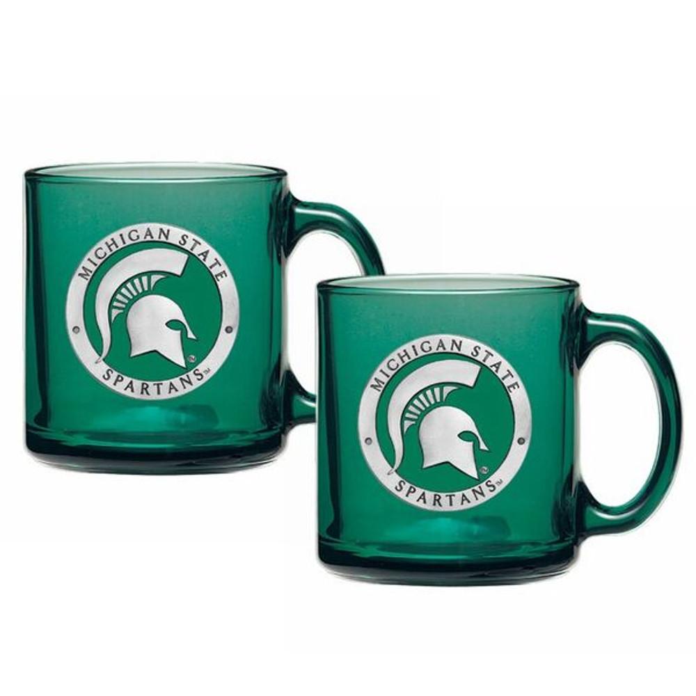 MSU Spartans Coffee Mug Set of 2   Heritage Pewter   CM10171E