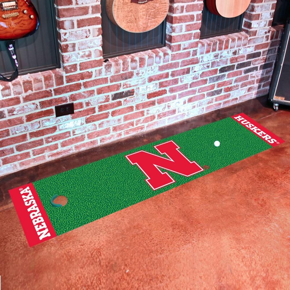 Nebraska Huskers Putting Green Mat | Fanmats | 9077