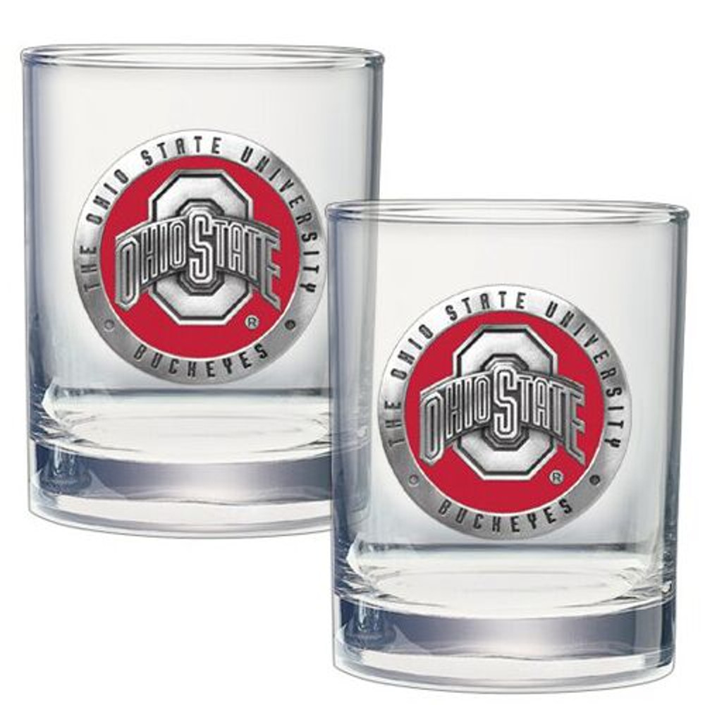 Ohio State Buckeyes Cocktail Glasses | Heritage Pewter | DOF10175E