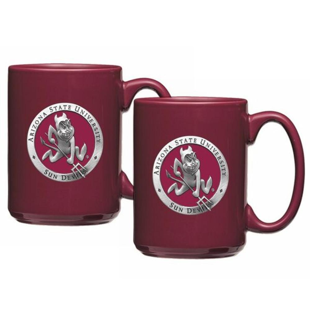 Arizona State Sun Devils Coffee Mug Set of 2 | Heritage Pewter | CM10127ERMR