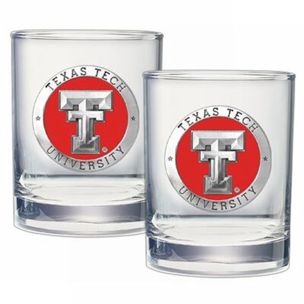 Texas Tech Red Raiders Cocktail Glasses | Heritage Pewter | DOF10146E