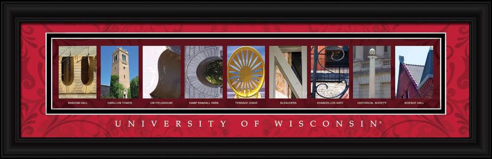 Wisconsin Badgers Letter Art | Get Letter Art | CLAL1B22WISC