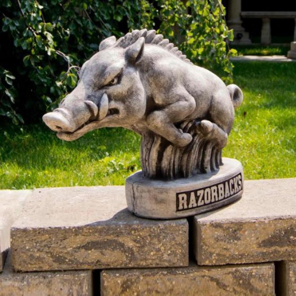 Old Garden Statue: Arkansas Razorbacks Vintage Mascot Garden Statue