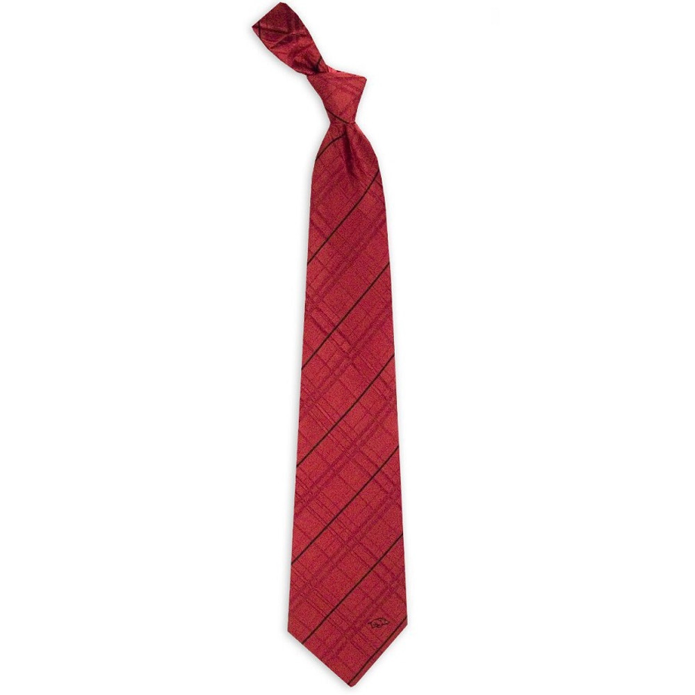 Arkansas Razorbacks Oxford Woven Silk Tie | Eagles Wings | 4839