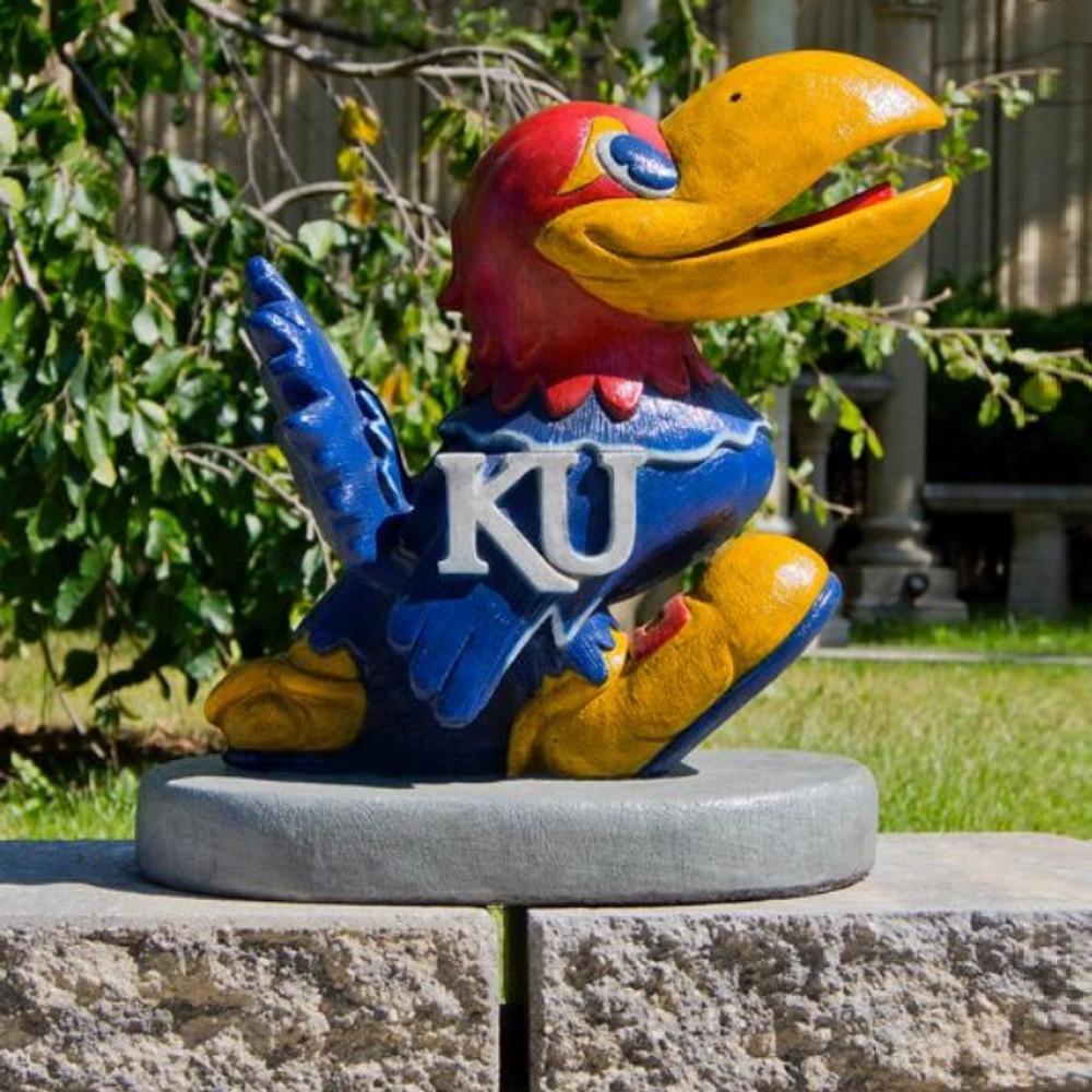 Kansas Jayhawks Mascot Garden Statue | Stonecasters | 2994HT