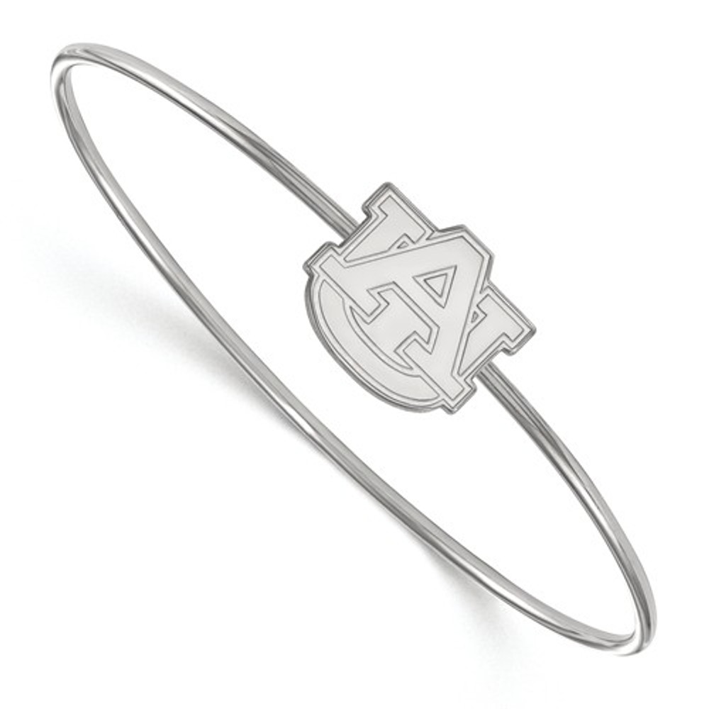 Auburn University Logo Sterling Silver Bangle Bracelet | Logo Art | SS014AU-7