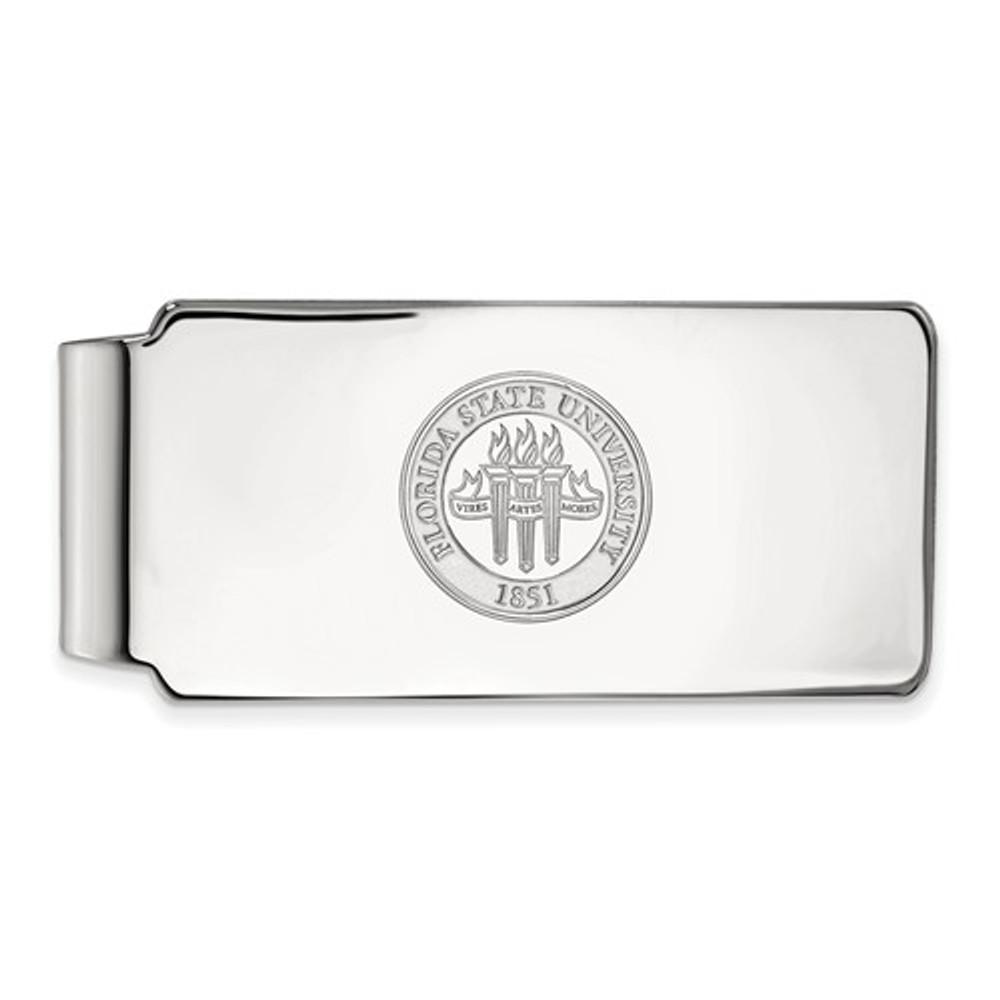 Florida State Seminoles Sterling Silver Money Clip | Logo Art | SS081FSU