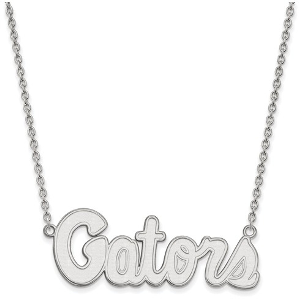 Florida Gators Script Logo Sterling Silver Necklace | Logo Art | SS050UFL-18