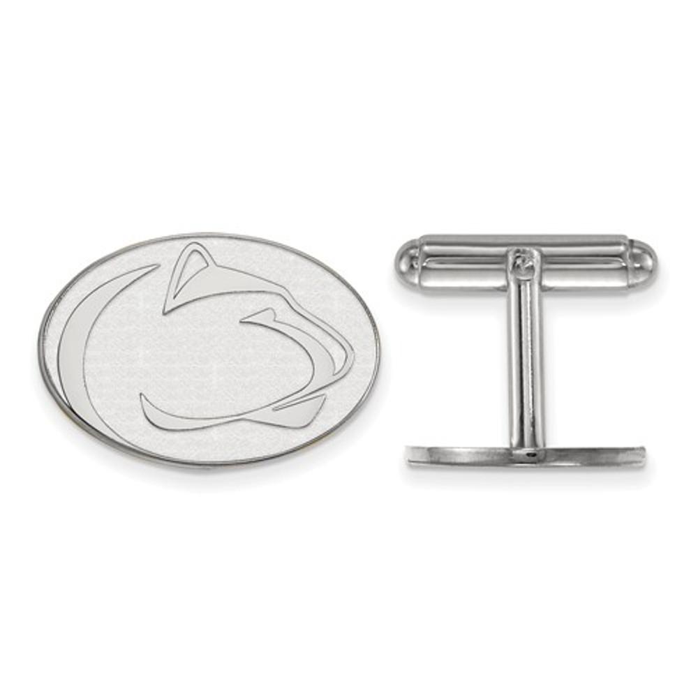 Penn State Nittany Lions Sterling Silver Cufflinks | Logo Art | SS014PSU