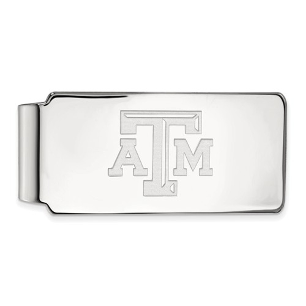 Texas A&M Aggies Sterling Silver Money Clip | Logo Art | SS019TAM