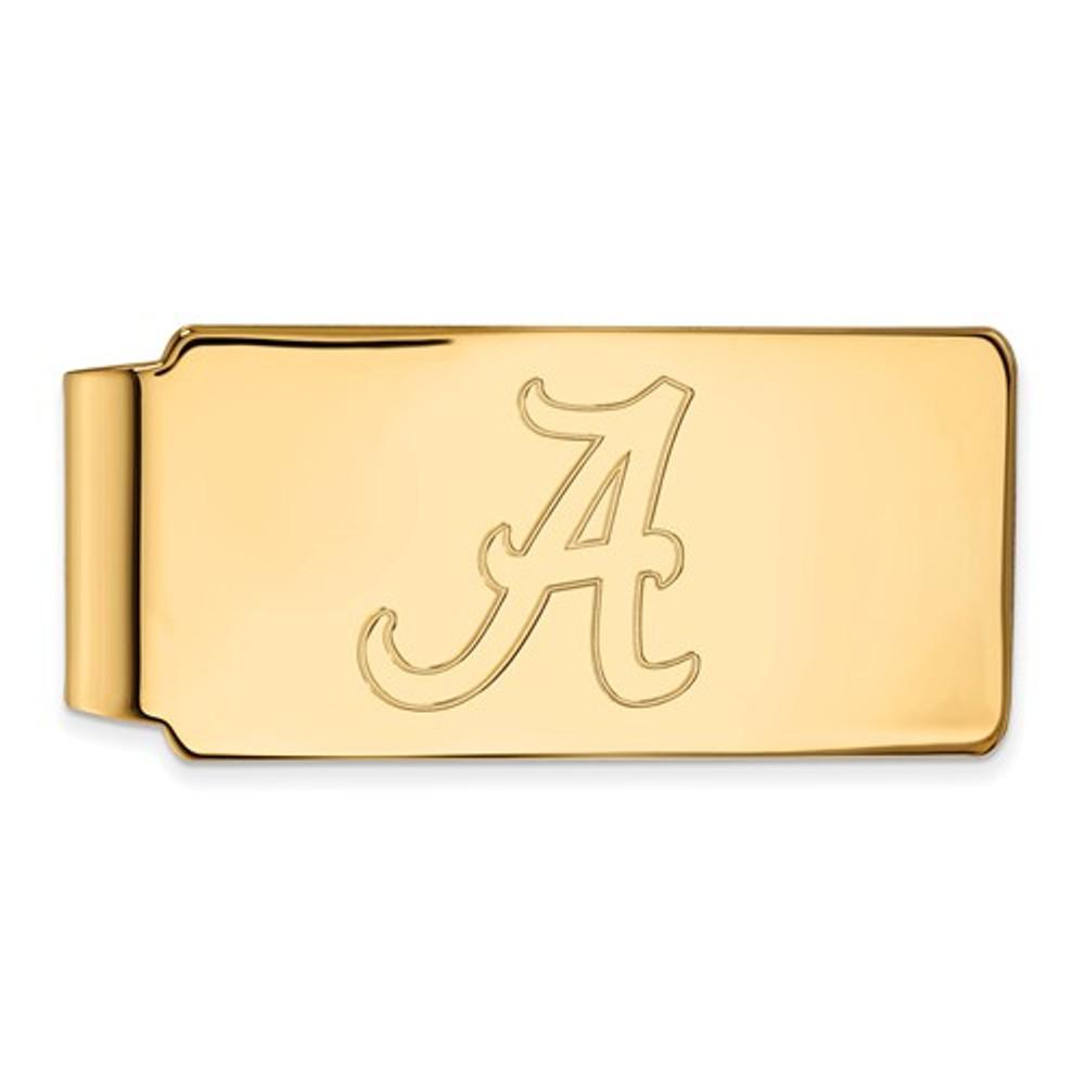 Alabama Crimson Tide A 14K Gold Money Clip   Logo Art   4Y025UAL