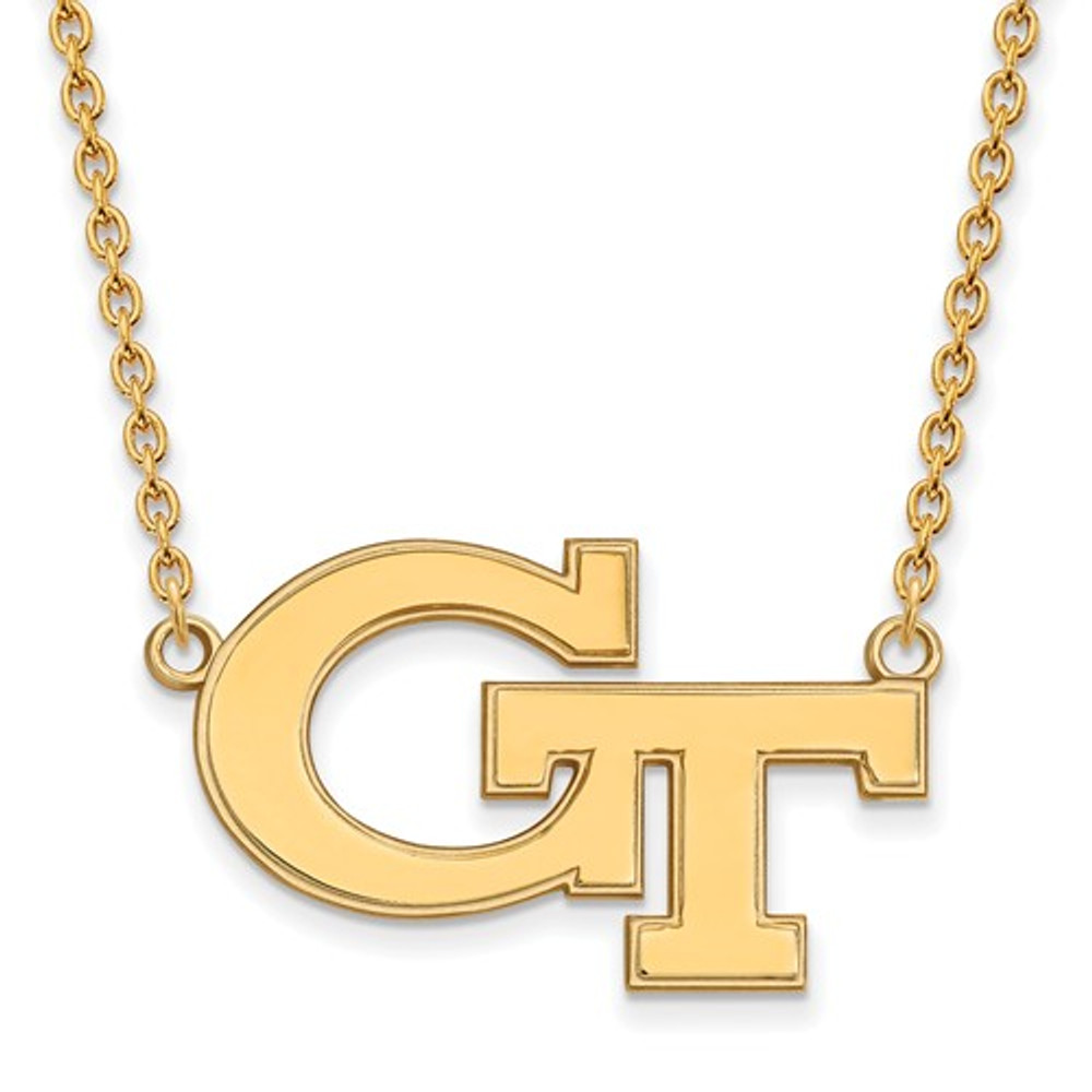 Georgia Tech Yellow Jackets GT 14K Gold Necklace | Logo Art | 4Y010GT-18