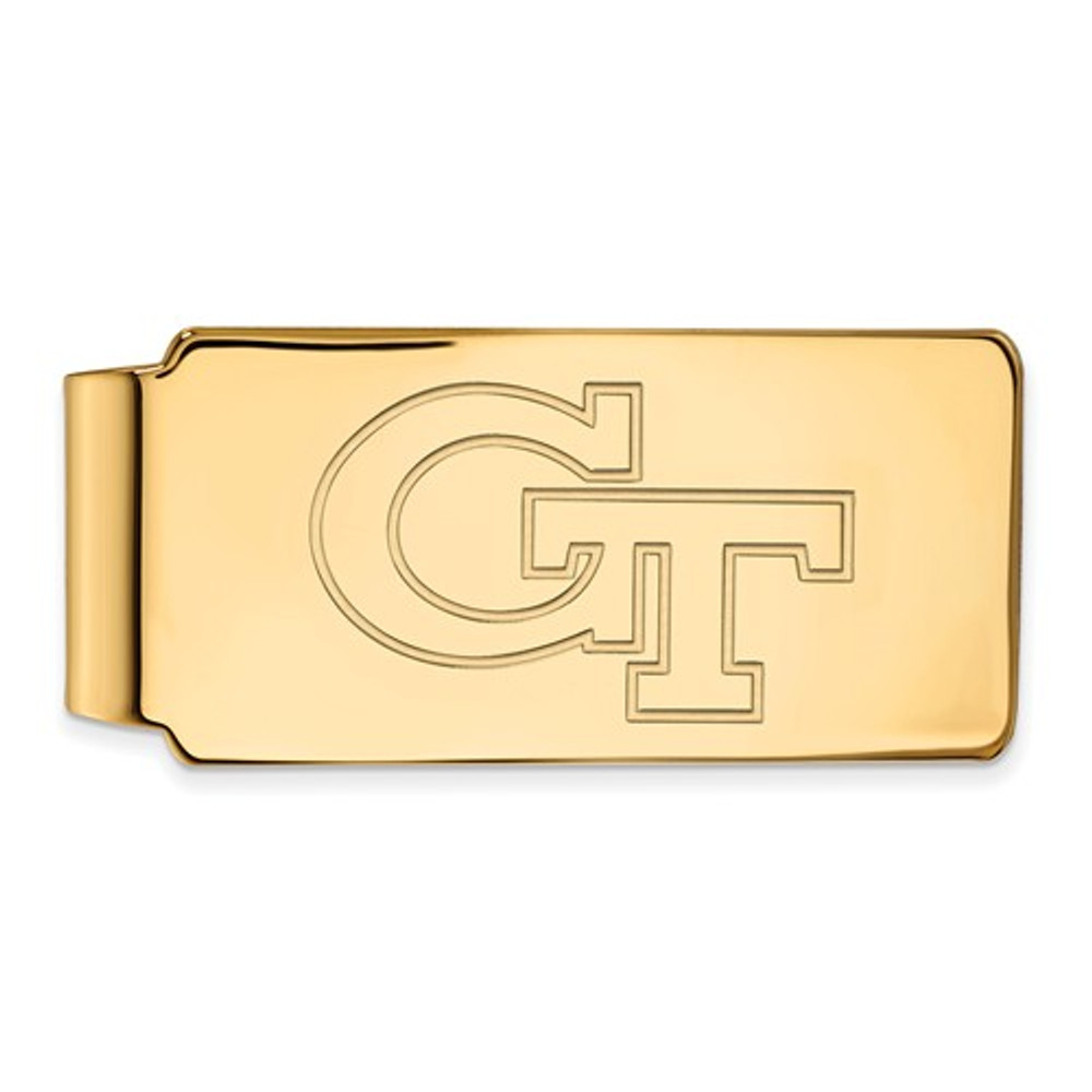 Georgia Tech Yellow Jackets GT 14K Gold Money Clip | Logo Art | 4Y019GT