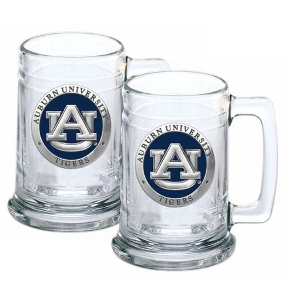 Auburn Tigers Beer Mug Set of Two   Heritage Pewter   ST10155EB