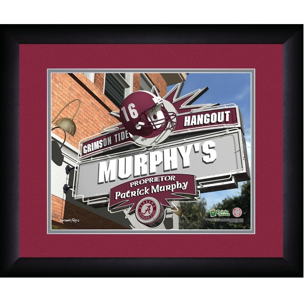 Alabama Crimson Tide Personalized Pub Print | Get Letter Art | ALAPUB