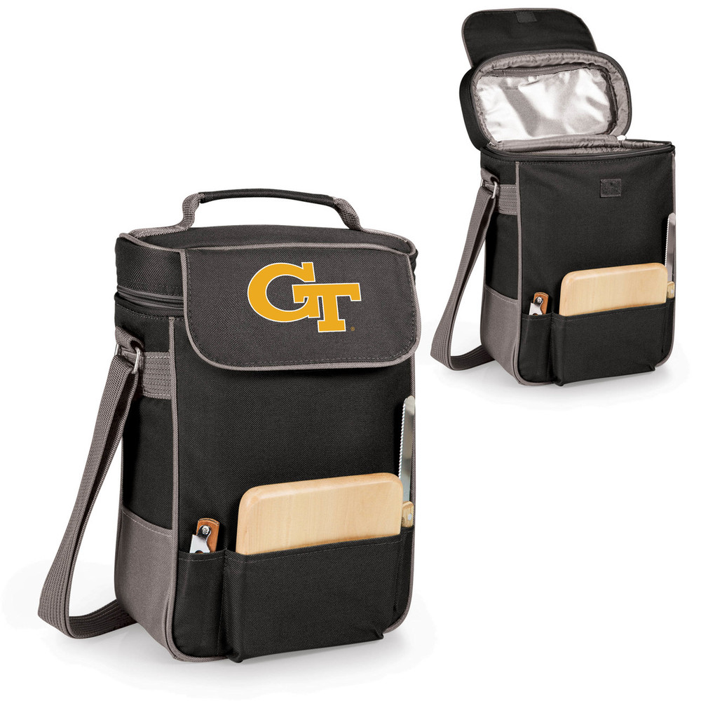 Georgia Tech Yellow Jackets Duet Wine and Cheese Picnic Tote | Picnic Time | 623-04-175-192-0-2