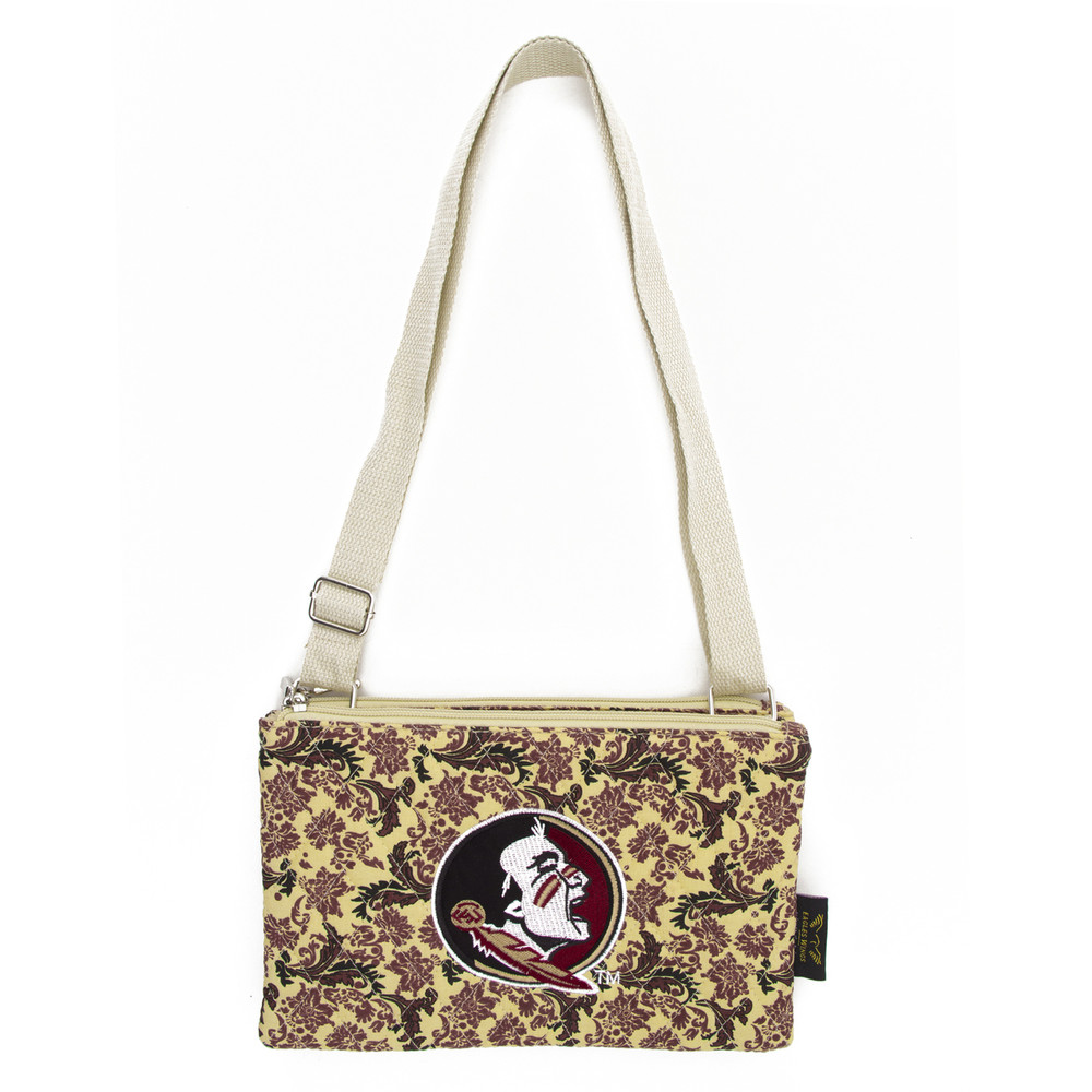 Florida State Seminoles Quilted Cotton Crossbody Purse   Eagles Wings   10125