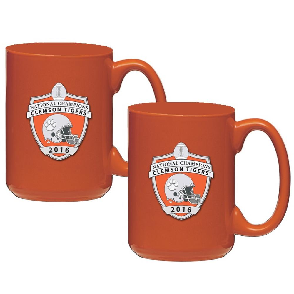 Clemson Tigers National Champions Coffee Mug Set of 2 | Heritage Pewter | CM11004ENG