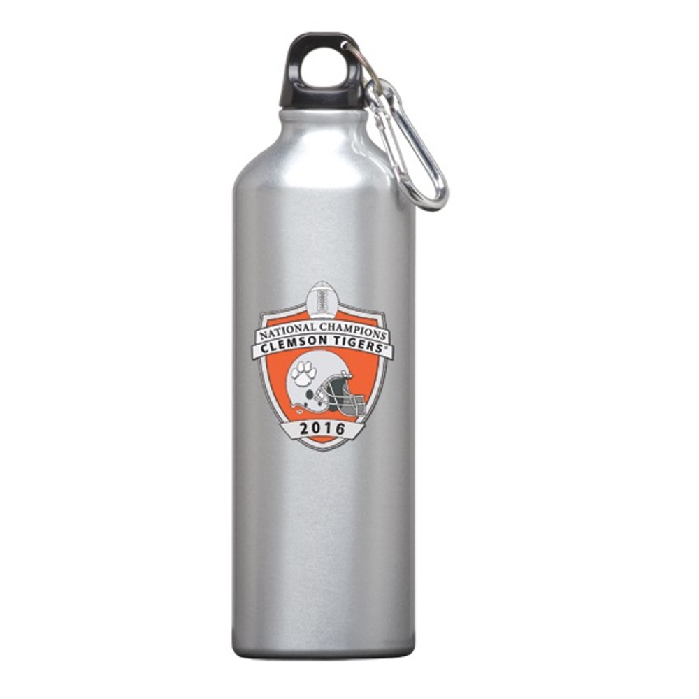 Clemson Tigers National Champions Water Bottle | Heritage Pewter | WR11004EO