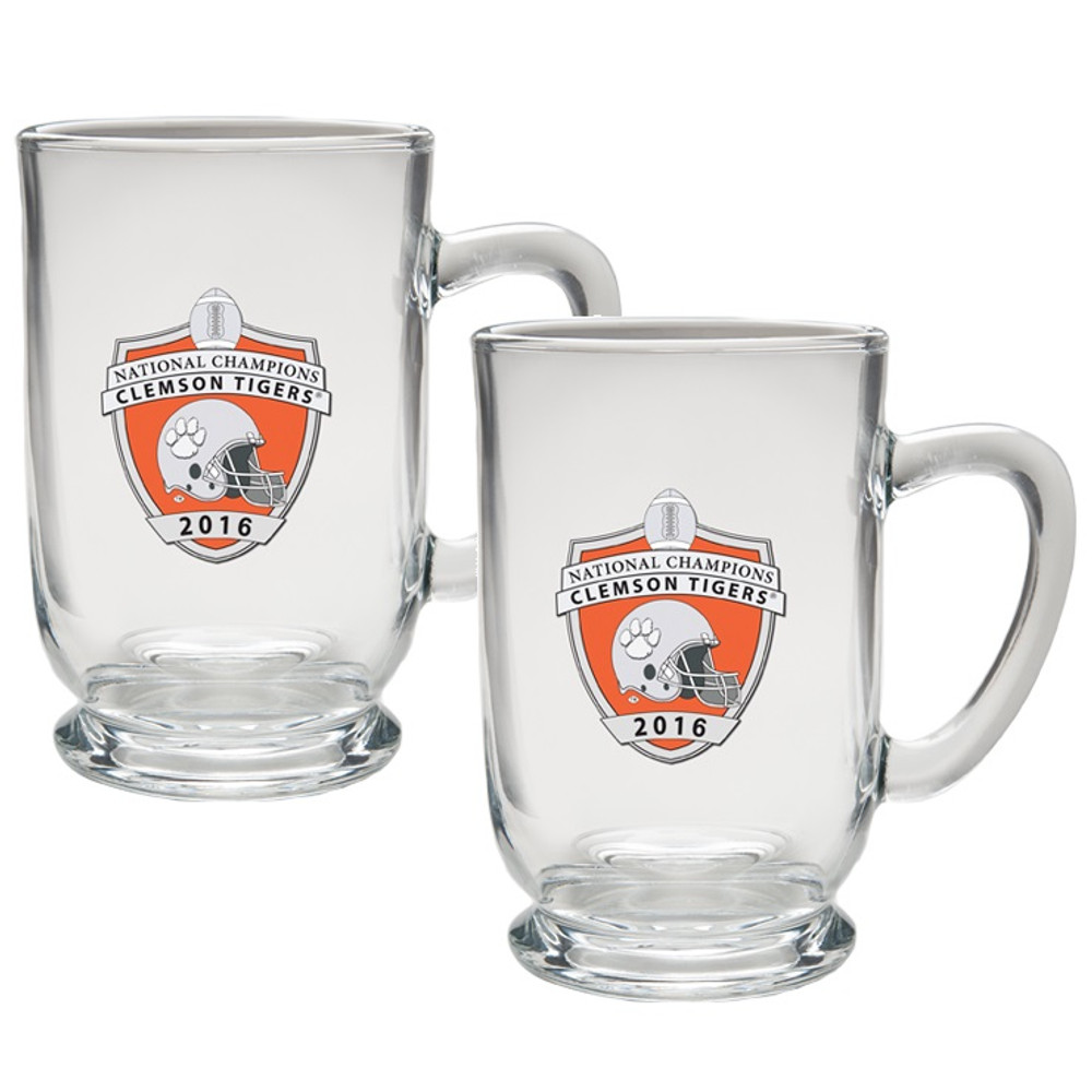 Clemson Tigers National Champions Footed Coffee Mug Set of 2 | Heritage Pewter | CM11004EOCL