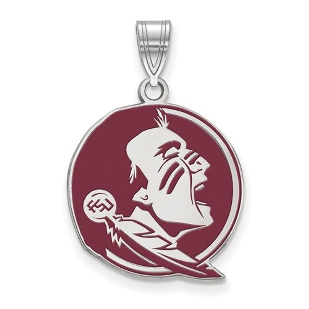 FSU Seminoles Sterling Silver Enamel Pendant | Logo Art | SS088FSU