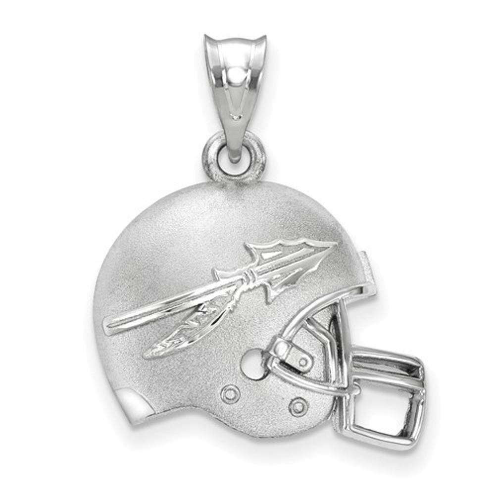 FSU Seminoles Sterling Silver 3D Football Helmet Pendant | Logo Art | SS505FSU