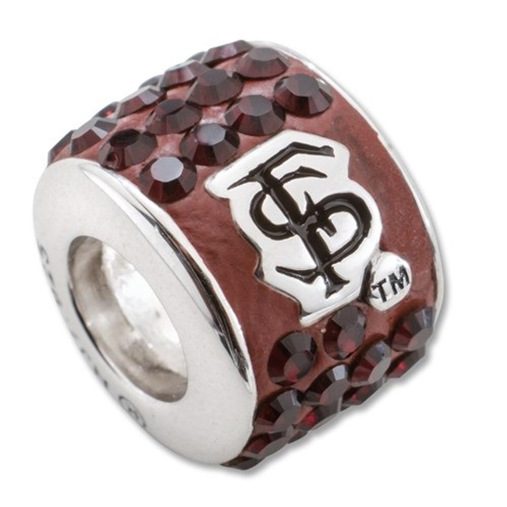 FSU Seminoles Sterling Silver Bracelet Bead Charm   Logo Art   UAL070CHM-SS