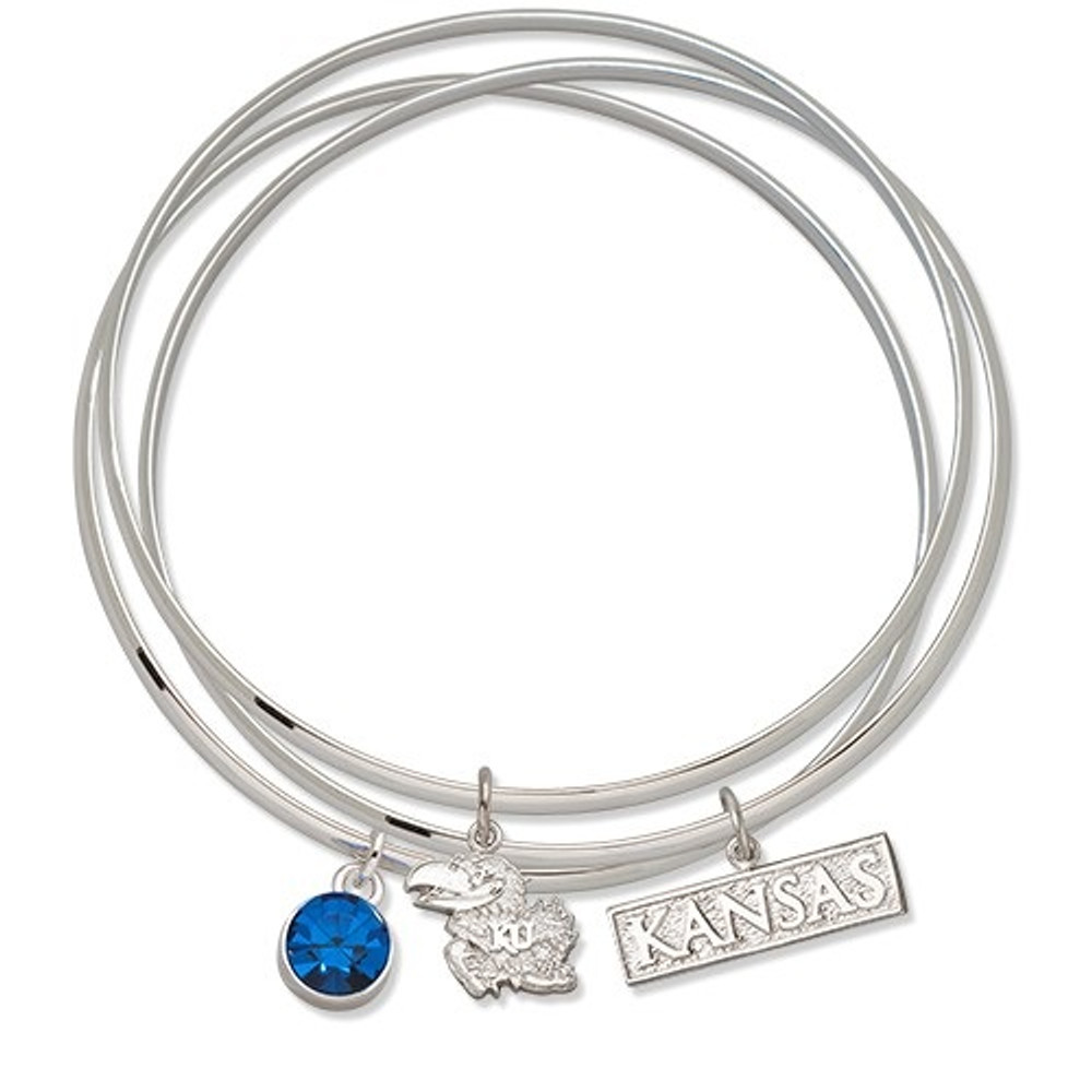 Kansas Jayhawks Triple Bangle Bracelet | Logo Art | UKSTBB