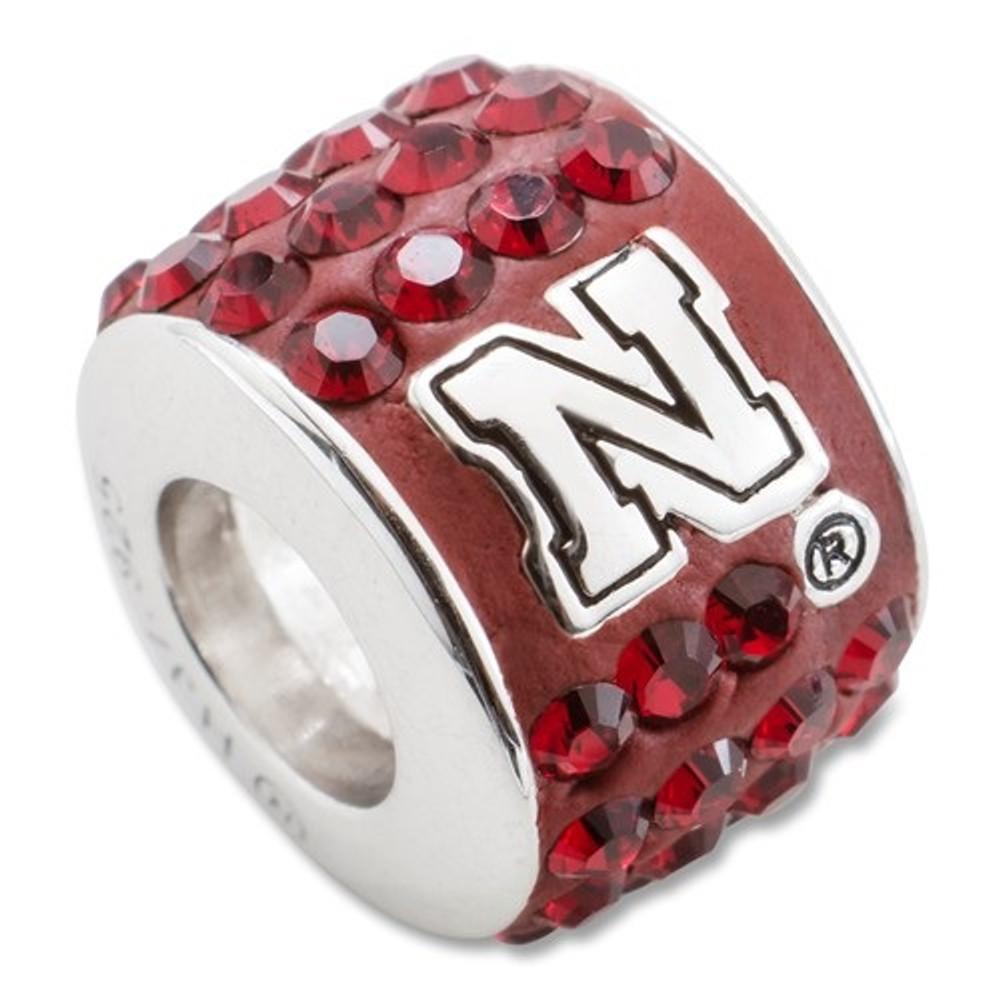 Nebraska Huskers Sterling Silver Bracelet Bead Charm | Logo Art | UNE070CHM-SS