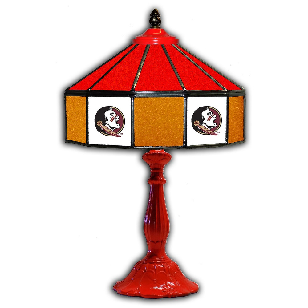 FSU Seminoles 21 in Glass Table Lamp   IPI359-3003