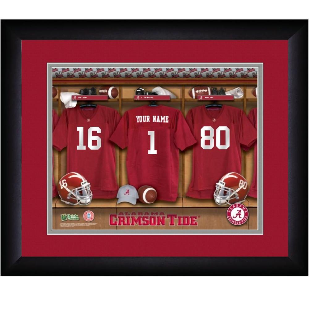 Alabama Crimson Tide Personalized Locker Room Print | Get Letter Art | ALALLOCKER