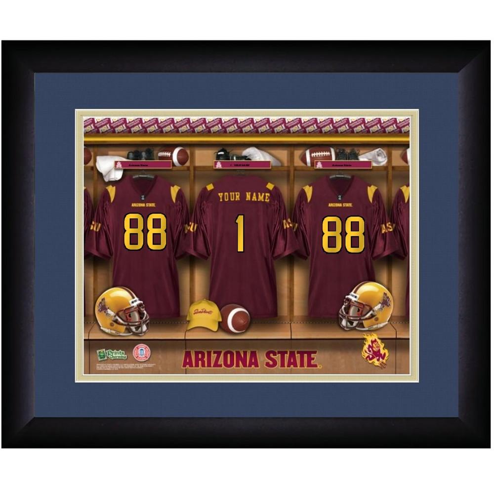 Arizona State Sun Devils Personalized Locker Room Print | Get Letter Art | ASULOCKER